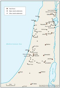 ARAB TOWNS AND JEWISH SETTLEMENTS IN PALESTINE, 1881-1914