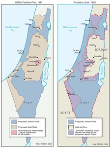 THE UNGA PARTITION PLAN, 1947 – THE 1948 WAR & THE 1949 ARMISTICE LINES