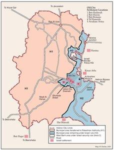 PASSIA MAPS Palestine HEBRON PROTOCOL 15 JANUARY 1997